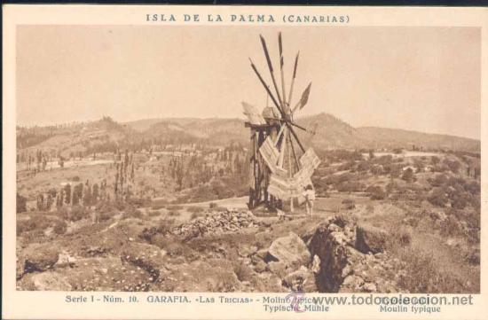Antiguo molino en Las Tricias, Garafía, La Palma.